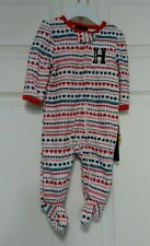 Tommy Hilfiger Footed Fleece Sleeper.  NWT. 0-3 Months.
