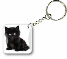 Keychain key ring keyring car motorcycle housse cat funny cute kitten paw r2