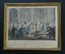 BELLE GRAVURE ANCIENNE DÉBUT DU XIXème SIÈCLE LA CÉLÉBRATION MARIAGE DANS EGLISE