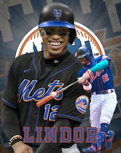 New York Mets Lithograph print of  Francisco Lindor 2021 11 x 14
