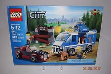 Lego 4441- City -Police Dog Van - Age 5+ - 312 Pcs-Sealed and Retired 7236 - NEW