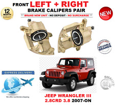 FOR JEEP WRANGLER III JK 2007-ON FRONT LEFT and RIGHT BRAKE CALIPERS 2.8 CRD 3.8
