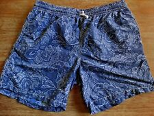 HICKEY FREEMAN MENS PAISLEY SWIM BOARD SHORTS GREAT DETAIL & COLORS SIZE: XL