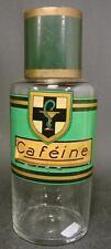 Apothekenflasche CAFÉINE / COFFEIN. Frankreich 19.Jh. Abriss.