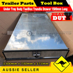 Under Tray Body ToolBox Trundle Drawer 1500mm Long UTE Drawer Truck ToolBox