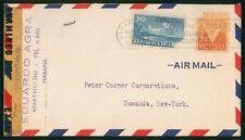 Mayfairstamps Habana 1943 Censored to Gowanda NY Airmail cover wwo1387