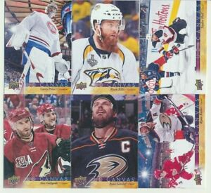 2017-18 Upper Deck Series 1 CANVAS YOU CHOOSE FINISH YOUR SET