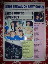 Leeds United 1 Juventus 1 - 1971 Fairs Cup final second leg - souvenir print