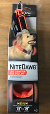 Nite Ize Nite Dawg Medium Safety LED Light Up Flash Glow Dog Collar Orange *NEW*
