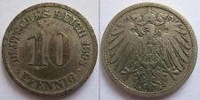 GERMANIA - DEUTSCHES REICH - RARA MONETA DA 10 PFENNING - 1893
