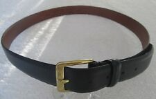 DOCKERS EXACT Black Genuine Leather Brass Buckle Men's Dress Belt Size 38 / 95