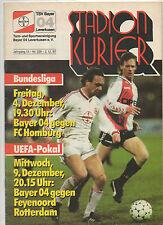 Orig.PRG   UEFA Cup  87/88  BAYER 04 LEVERKUSEN - FEYENOORD ROTTERDAM 1/8 FINALE