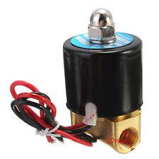 "1/4"" 12V DC Elektrische Magnetventil Messing Ventil 2 Wege stromlos geschlossen"