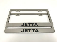 (2) STAINLESS STEEL CHROME Polished Metal License Plate Frame - JETTA