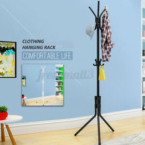 2 Color Coat Hat Clothing Garment Floor Stand Rack Tree Hanger Holder  UK!
