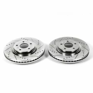 PowerStop for 2013 Infiniti JX35 Front Evolution Drilled & Slotted Rotors - Pair