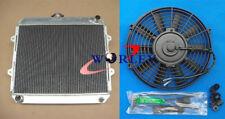 Aluminum Radiator + FAN for TOYOTA HILUX RN85 YN85 22R 2.4L Petrol MT 1991-1997