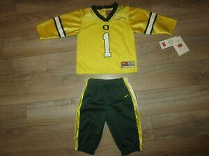 Oregon Ducks Nike Football Pants Jersey Uniform Set baby Toddler 6/9m Nwt NEW