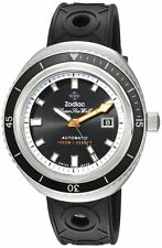 Zodiac Men's 'Super Seawolf 68 Extreme' Swiss Automatic Stainless Steel and Rubb