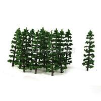 HO N Model Train Layout Tree Forest Landscape Street Scenery Fir Trees 20PCS