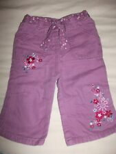 Adams baby Girls Dusty Pink Embroidered Trousers / Jeans Age 6-9 Months