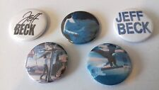 5 Jeff Beck button badges 25mm Freeway Jam I put a Spell on you Space Boogie