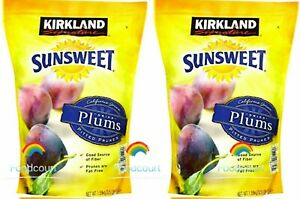 2 Packs Kirkland Signature Sunsweet Dried Plums Pitted Prunes 3.5 lb Each Pack