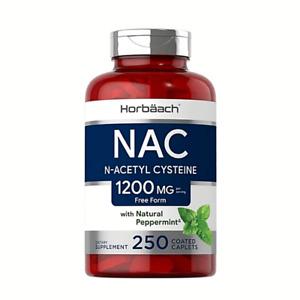 N-Acetyl Cysteine NAC 1200mg per serving 250 veggie compr. MEGA FRASCO AHORRO