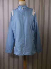 Nike Golf Windproof jacket Large Light Blue and white NWT half zip two pockets
