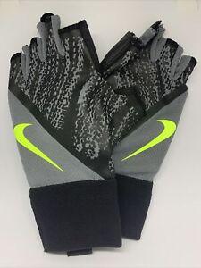 Nike SP Mens Dynamic Training Gloves-cool grey/black/bolt. Size XS