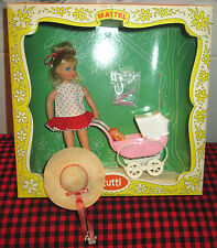 """1966 VERY RARE Barbie Vtg.~""""TUTTI""""~BOXED SET~WALKIN`MY DOLLY!~3552~COMPLETE+MINT"""