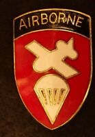 US Army Airborne Division Troop Command HQ DI DUI Crest Lapel Jacket Hat Pin HM