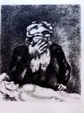 Marc Chagall offset lithograph Bible  paris maeght 1960 original  2 sided 143