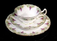 Beautiful Early Royal Doulton E4045 Footed Grapes and Vine Trio