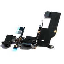 FLEX DOCK CARGA DATOS + CONECTOR JACK AURICULAR + MICROFONO IPHONE 5 NEGRO
