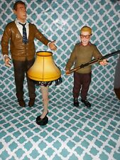 """The Christmas Story Movie 10"""" Talking Ralphie 12"""" Old Man Action Figure Leg Lamp"""