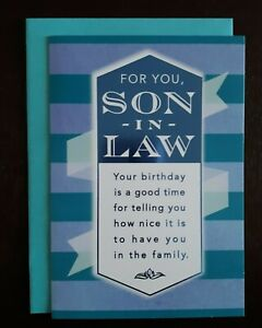 HAPPY BIRTHDAY CARD for Son-in-Law - Hallmark Greeting Card- For You, Son-in-Law