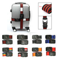 TSA 3 Digital Combination Lock Travel Luggage Strap Secure Suitcase Baggage Belt