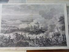 Acquaforte napoleonica Vernet Battaglia d'Arcole les 25 26 et 27 Brumaire AN 5