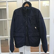 G-Star Raw Heavy Fully Lined Jacket Coat XL Navy Blue Detachable Hood MSRP $550