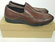 Cole Haan Mens Brown Leather Loafers Size 8.5 Air Hughes Venetian II Moc Toe