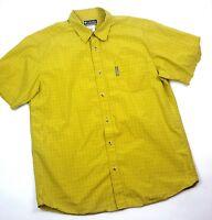 Columbia XCO Mens XL Green Short Sleeve Button Front Shirt
