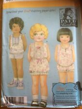 Simplicity Child paper sewing pattern. New & Uncut 4814 Size 3-6 top & panties
