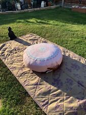BEAUTIFUL LARGE PINK BOHO MANDALA FLOOR / GARDEN MEDITATION PICNIC CUSHION  BNWT