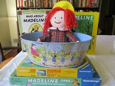 lot Madeline: doll ,2 Books, tin , Game-author Bemelmans Hb