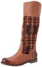 OTBT Womens size 7.5M Brown Petaluma Tall Riding Boots Aztec Saddle Red Batik
