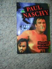 Paul Naschy  MEMOIRS OF A WOLFMAN Autographed SIGNED Book EX COND Horror