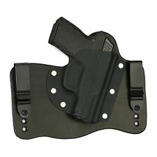 FoxX Holsters Leather & Kydex IWB Hybrid Holster Kel Tec PF9 Black Right Conceal