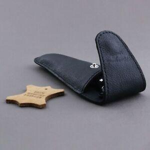 Travel Shaving 100%Leather Razor Cover /Case ,Pouch for Triple edge Razors