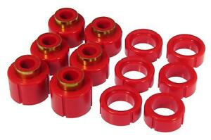 Prothane Red Body And Cab Mount 12 / 16 Bushing Kit for 88-98 Pickup 2WD / 4WD